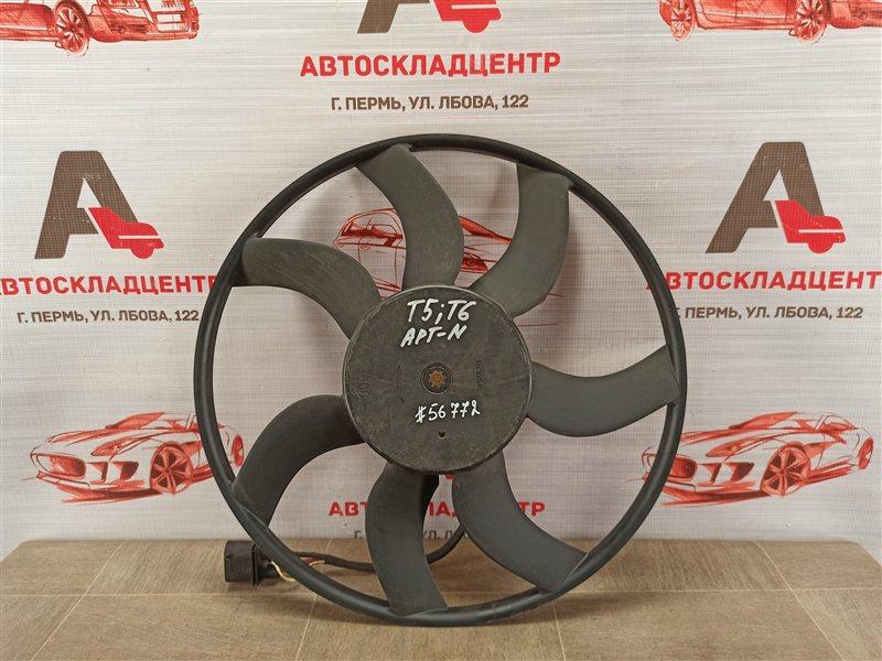 Вентилятор радиатора охлаждения - крыльчатка с мотором Volkswagen T5 (Transporter / Caravelle /