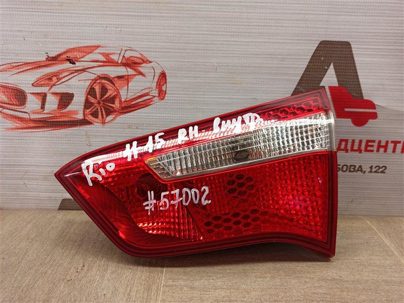 Фонарь правый - вставка в дверь / крышку багажника Kia Rio (2011-2017) 2011