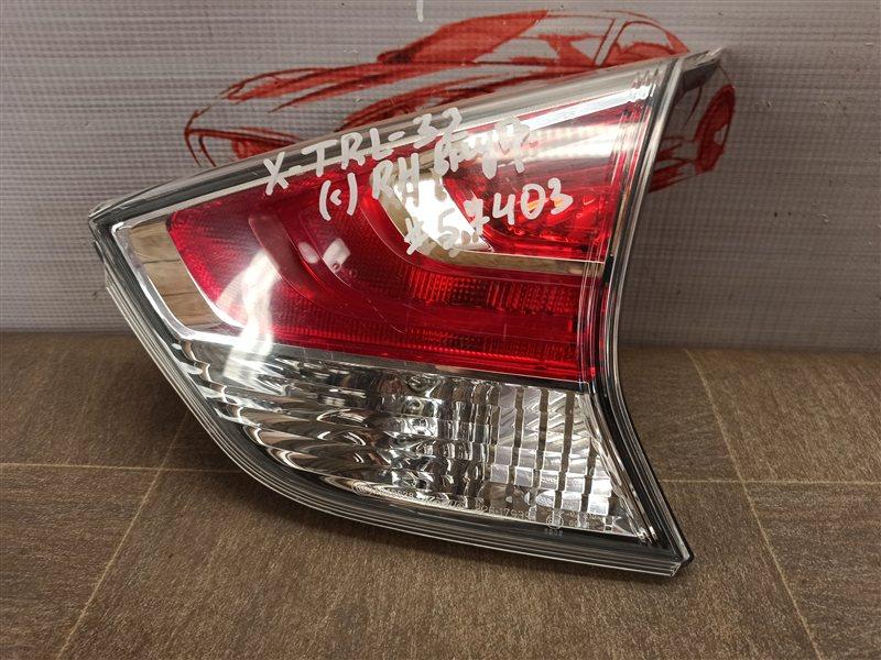 Фонарь правый - вставка в дверь / крышку багажника Nissan X-Trail (2014-Н.в.) 2014