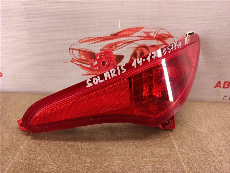 Фонарь противотуманный Hyundai Solaris (2010-2017) 2014 правый