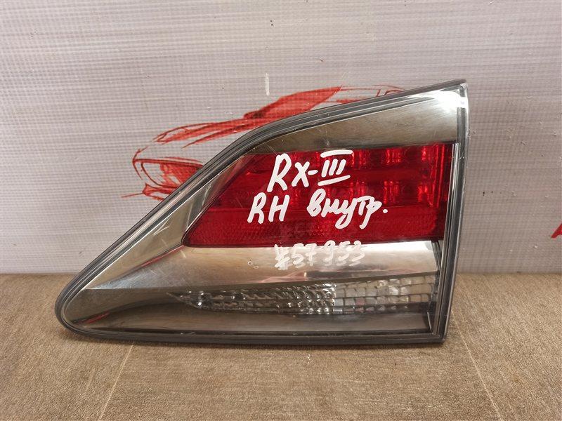 Фонарь правый - вставка в дверь / крышку багажника Lexus Rx -Series 2008-2015