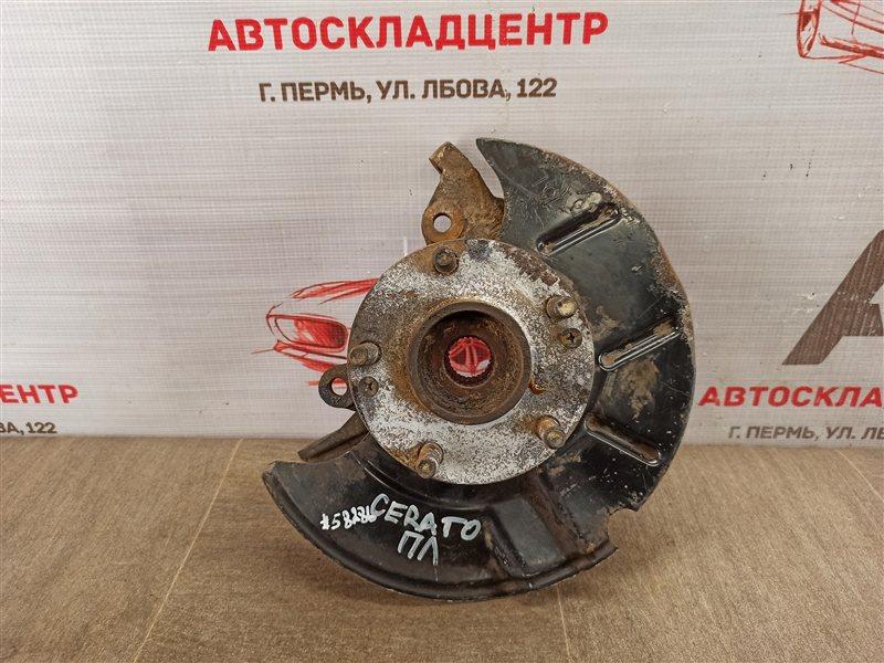 Цапфа колеса (поворотный кулак) Kia Cerato (2008-2013) G4FC (1600CC) 2012 передняя левая