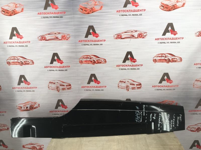 Кузов - боковина (обрезок) Fiat Ducato 2006-2013 задний правый верхний