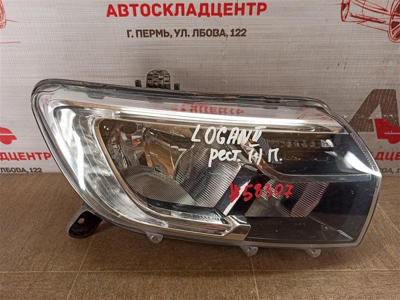 Фара правая Renault Logan (2014-Н.в.) 2018
