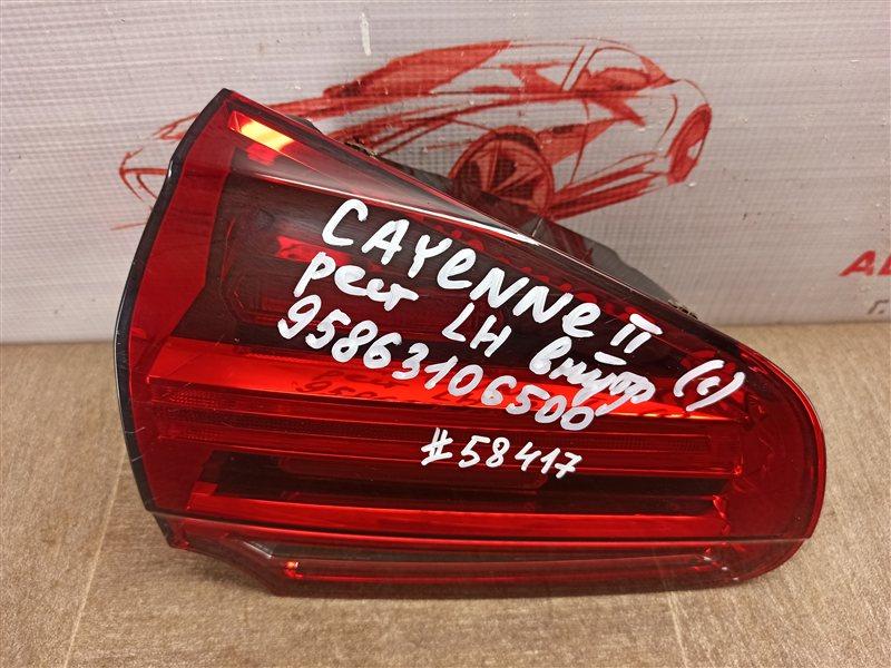 Фонарь левый - вставка в дверь / крышку багажника Porsche Cayenne (2010-2018) 2014