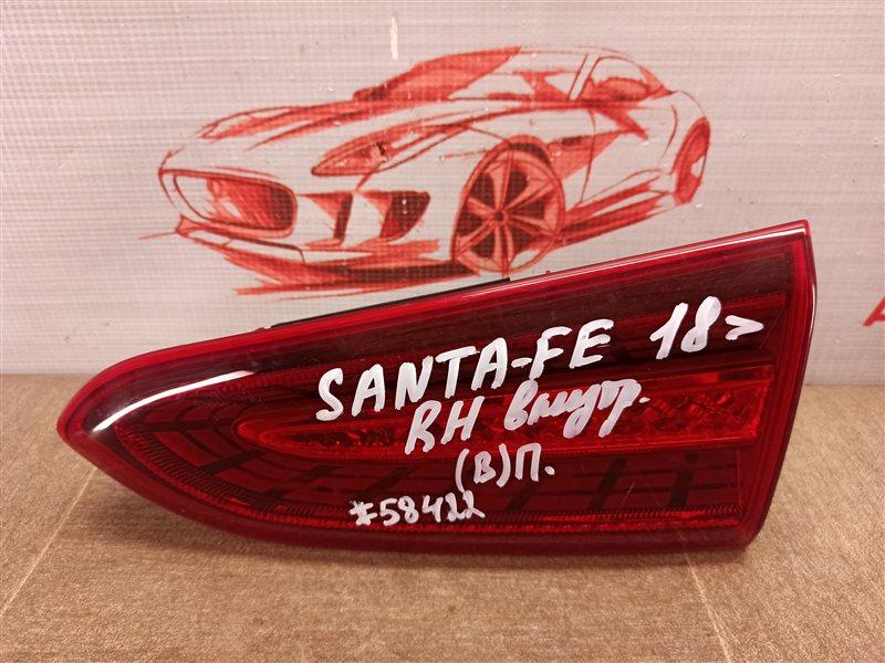 Фонарь правый - вставка в дверь / крышку багажника Hyundai Santa-Fe (2018-Н.в.)