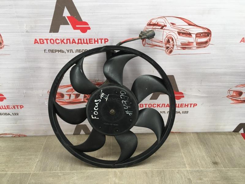 Вентилятор радиатора охлаждения - крыльчатка с мотором Ford Focus 3 2010-2019