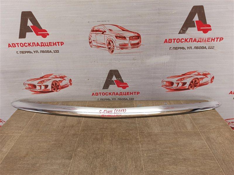 Молдинг бампера Mercedes S-Klasse Coupe / Cabrio (C217 / A217) 2014-Н.в. передний