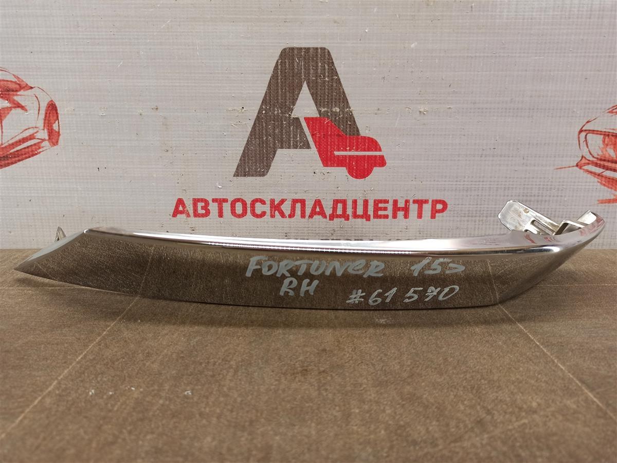 Решетка радиатора - молдинг Toyota Fortuner (An160) 2015-Н.в. правая