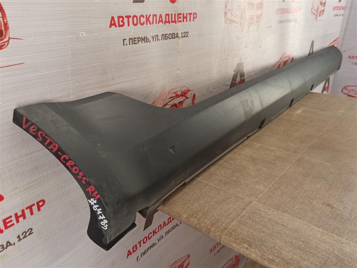 Накладка порога кузова - наружная облицовка Lada Vesta правая
