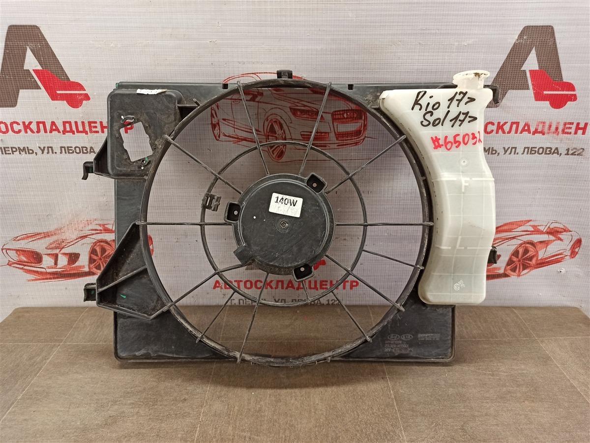Диффузор радиатора охлаждения - рамка вентиляторов Hyundai Solaris (2017-Н.в.)