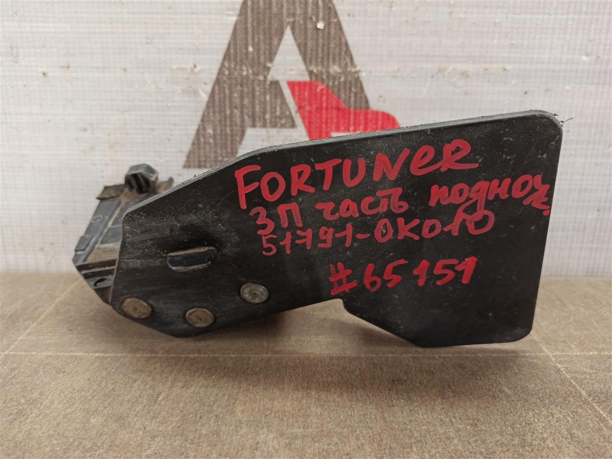 Подножка кузова - накладка Toyota Fortuner (An160) 2015-Н.в. задняя правая