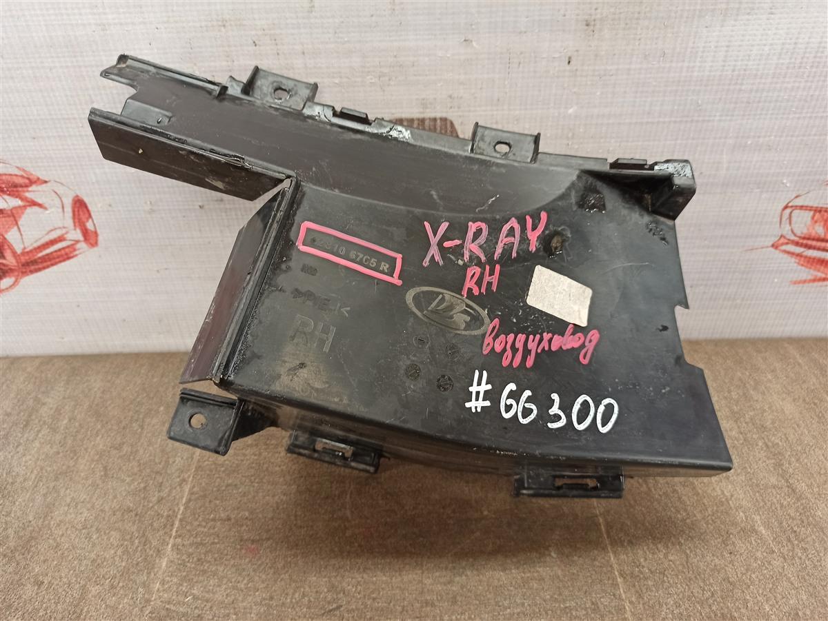 Дефлектор воздушного потока основного радиатора Lada Kalina правый