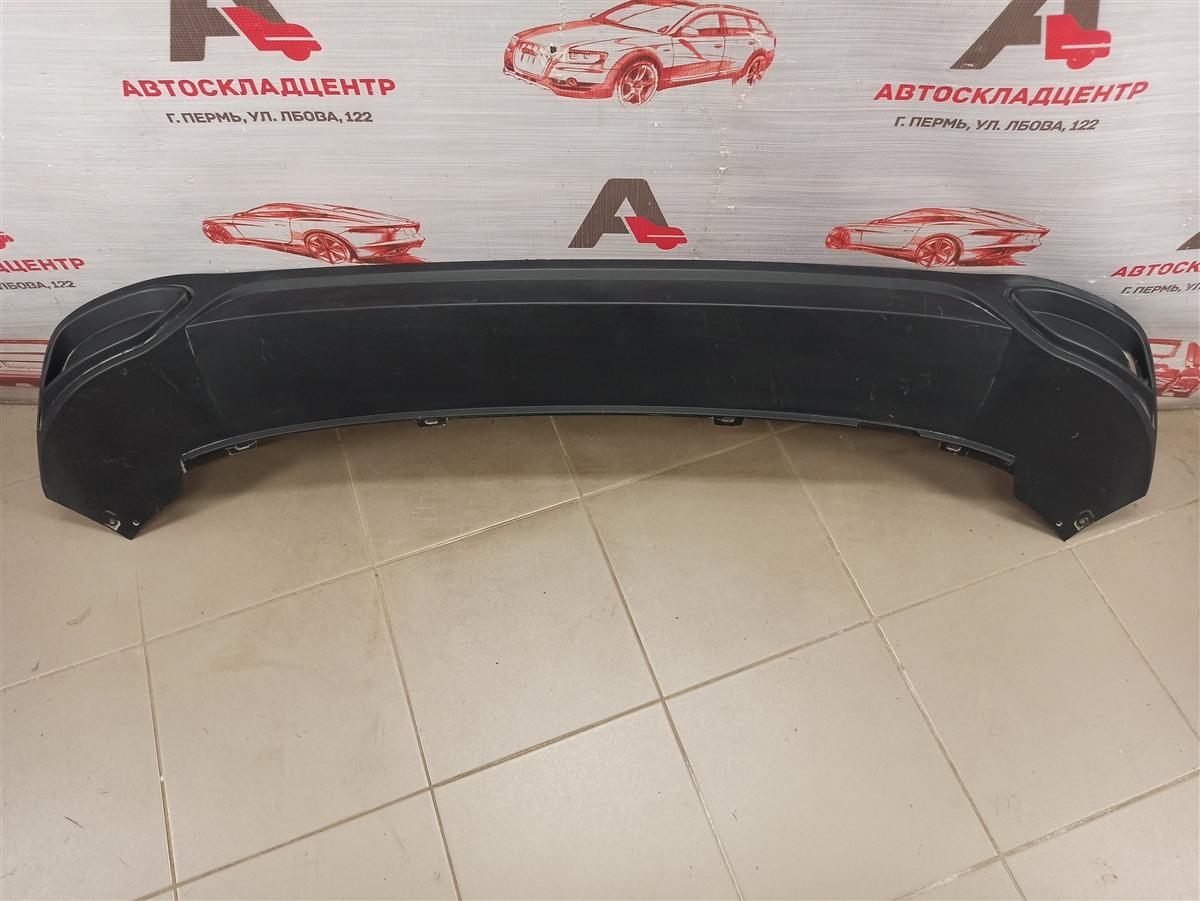 Спойлер (накладка) бампера заднего Volkswagen Polo (Mk6 Rus) 2020-Н.в.