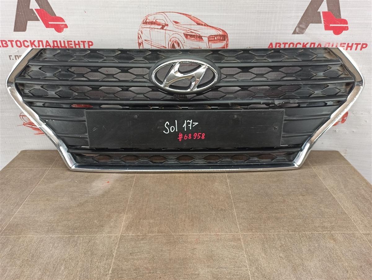 Решетка радиатора Hyundai Solaris (2017-Н.в.) 2017