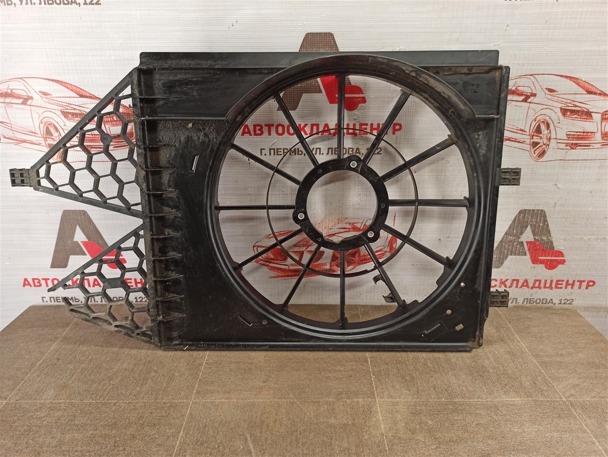 Диффузор радиатора охлаждения - рамка вентиляторов Volkswagen Polo (Mk5) Седан 2010-2020