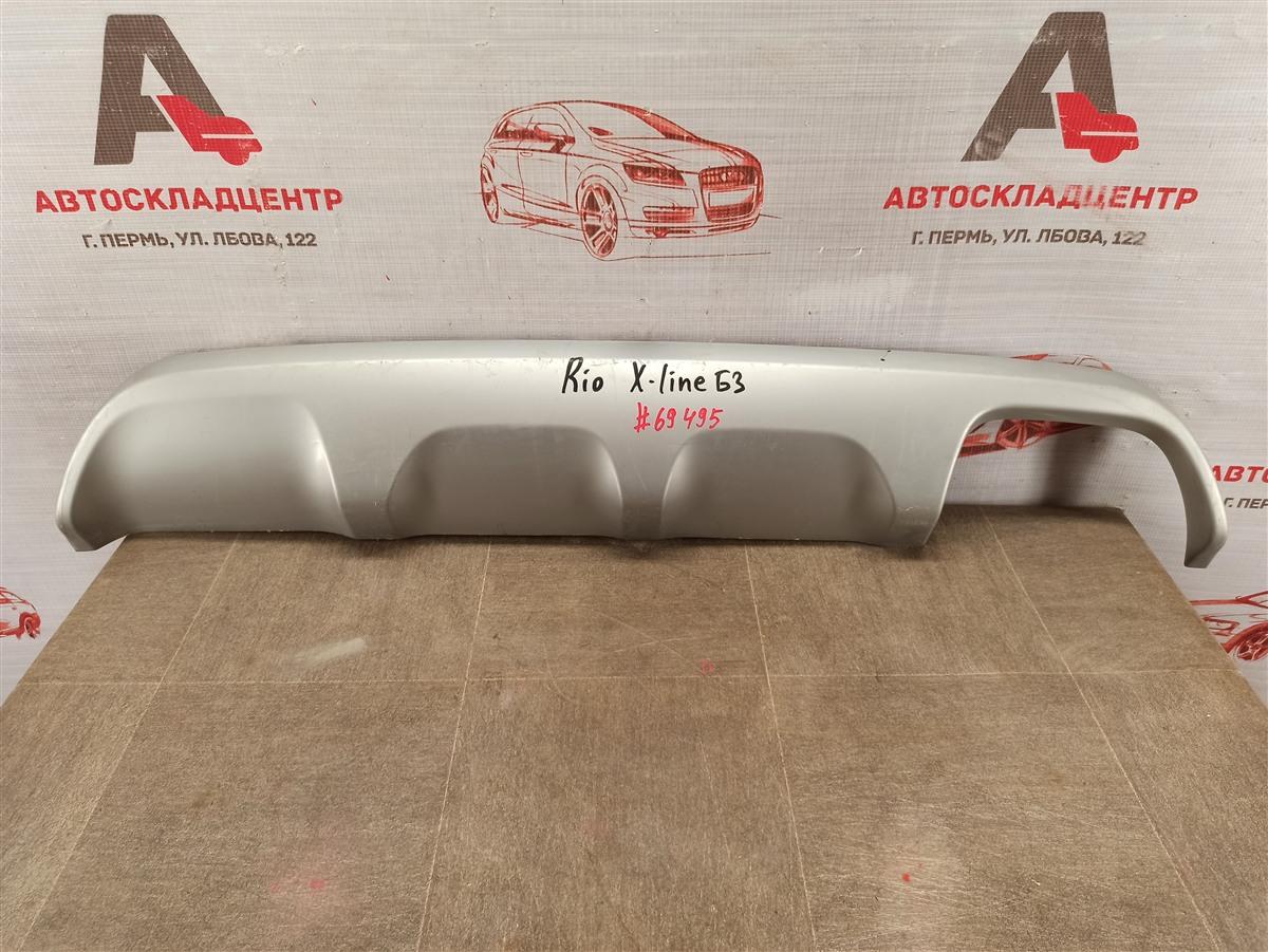 Спойлер (накладка) бампера заднего Kia Rio X-Line (2017-Н.в.)
