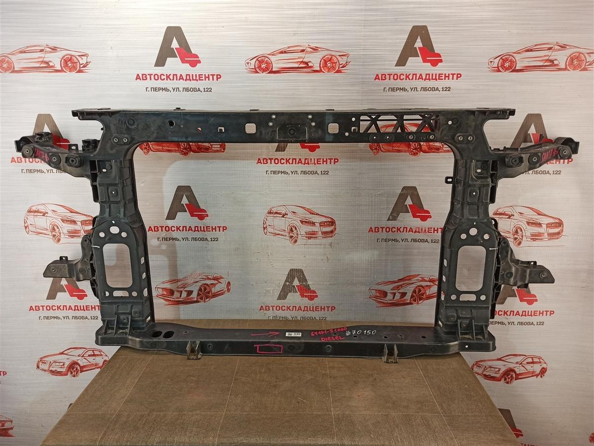 Панель передка (телевизор) - рамка радиатора Hyundai Santa-Fe (2018-Н.в.)