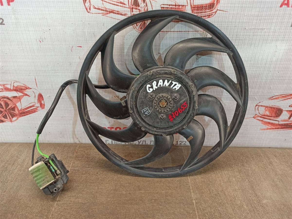 Вентилятор радиатора охлаждения - крыльчатка с мотором Lada Granta