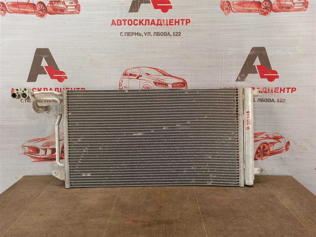 Конденсер (радиатор кондиционера) Volkswagen Polo (Mk5) Седан 2010-2020