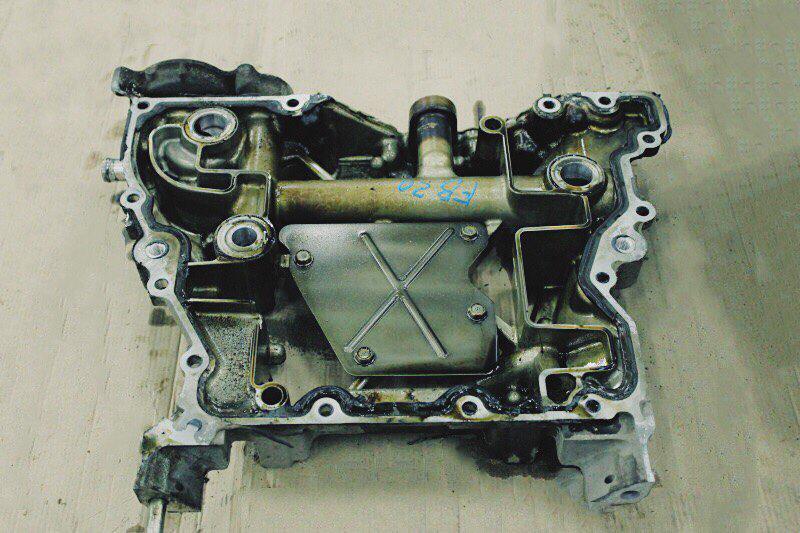 Полуподдон двс Subaru Forester SH FB20E 2008