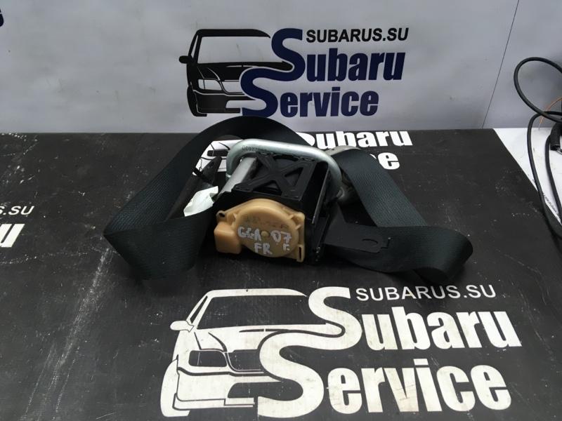 Ремень безопасности Subaru Impreza Wrx GGA EJ205 2007 передний правый