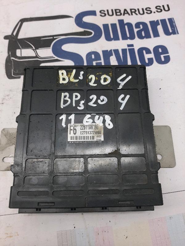 Блок управления двс Subaru Legacy Wagon BP5 EJ204 2005