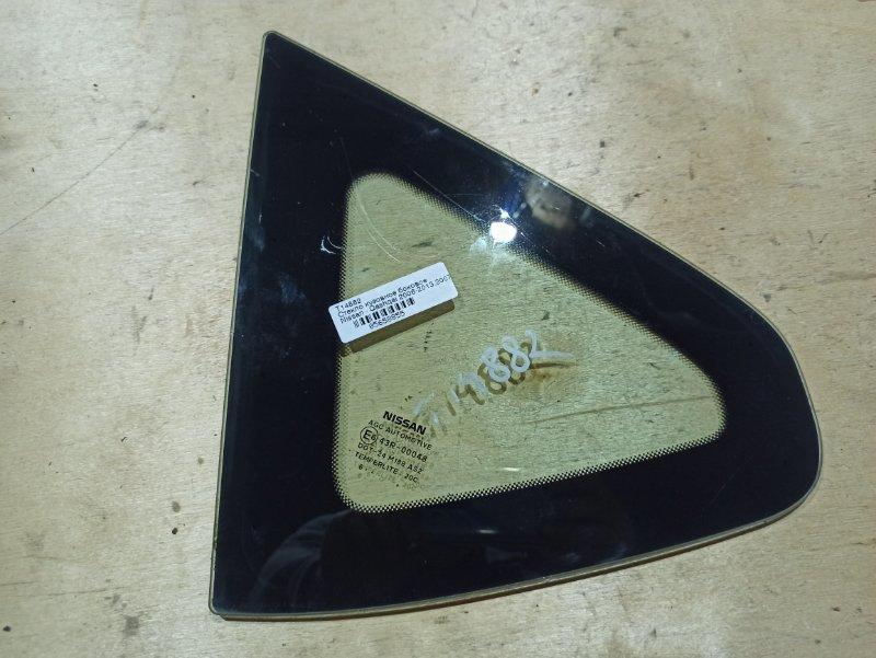 Стекло Nissan Qashqai J10 HR16DE 2007 левое (б/у)