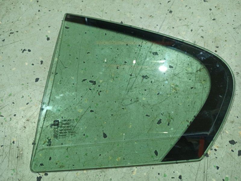 Стекло двери задней Opel Insignia ХЭТЧБЕК A18XER 2009 заднее левое (б/у)