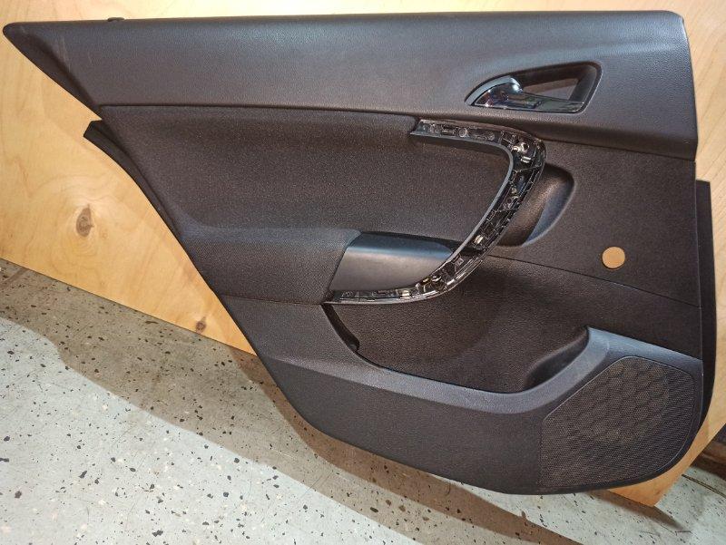 Обшивка двери карта Opel Insignia ХЭТЧБЕК A18XER 2009 задняя левая (б/у)