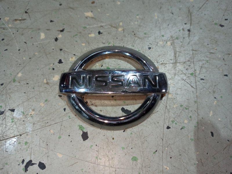 Эмблема Nissan Primera P12 ЛИФТБЕК QG18DE 2006 задняя (б/у)