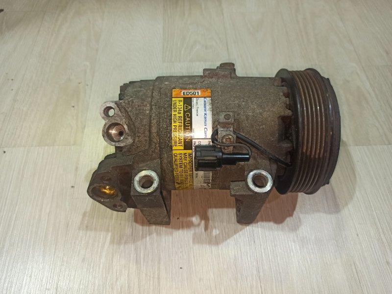 Компрессор кондиционера Nissan Primera P12 ЛИФТБЕК QG18DE 2006 (б/у)