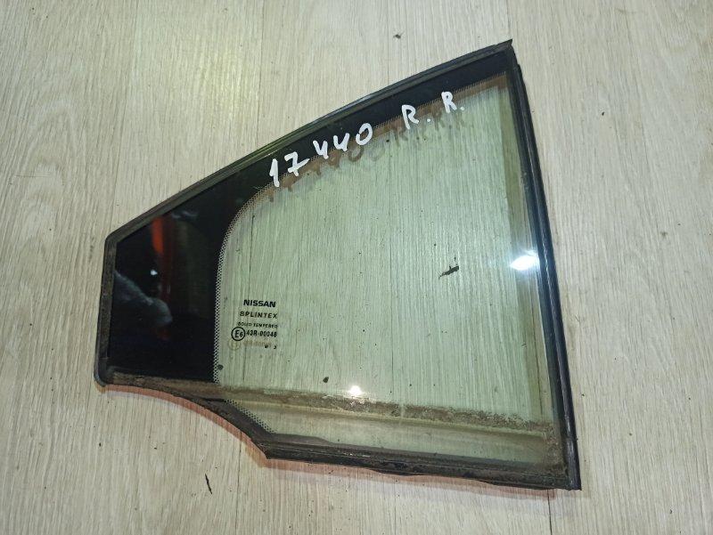 Стекло Nissan Primera P12 ЛИФТБЕК QG18DE 2004 заднее правое (б/у)