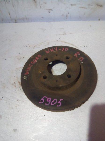 Тормозной диск Nissan Wingroad WFY10 GA15DE передний