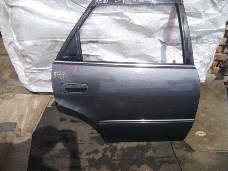 Дверь боковая Toyota Sprinter AE110 4AFE задняя правая