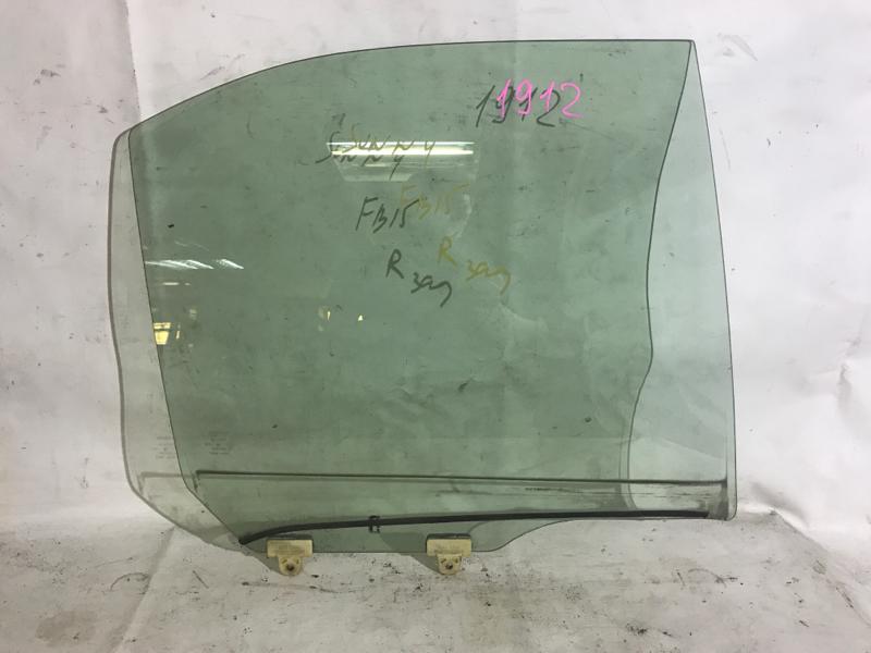 Стекло боковое Nissan Sunny FB15 QG15DE заднее правое