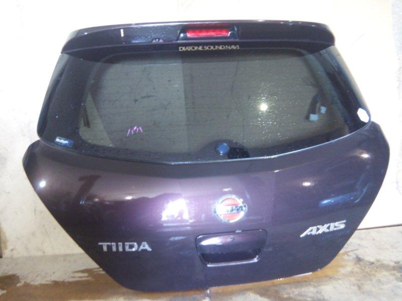 Дверь багажника Nissan Tiida C11 HR15DE задняя