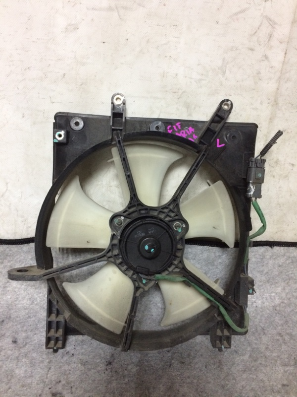 Вентилятор охлаждения радиатора Honda Fit Aria GD6 L13A левый