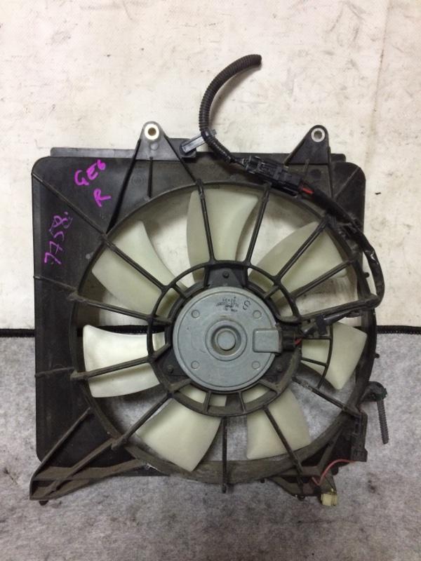 Вентилятор радиатора кондиционера Honda Fit GE6 L13A правый