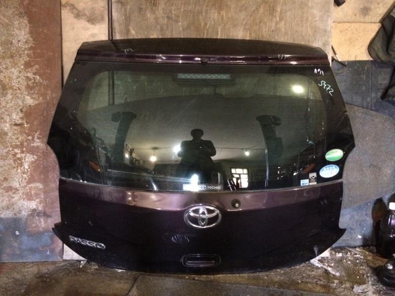 Дверь багажника Toyota Passo KGC30 1KRFE задняя