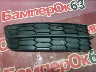 Запчасть решетка в бампер передняя правая Skoda Rapid 2012