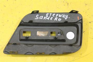 Запчасть накладка бампера задняя правая Renault Sandero 2014-2017