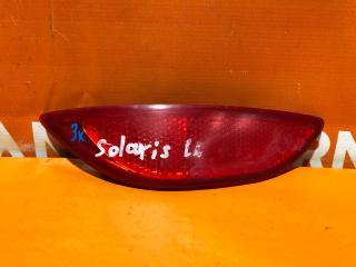 Запчасть отражатель задний левый Hyundai Solaris 2010-2014