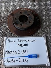 Запчасть диск тормозной задний Mazda 3 2009-2013