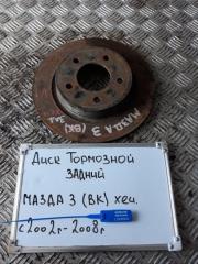 Запчасть диск тормозной задний Mazda 3 2008