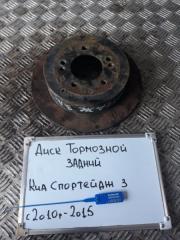 Запчасть диск тормозной задний Kia Sportage 2010-2014