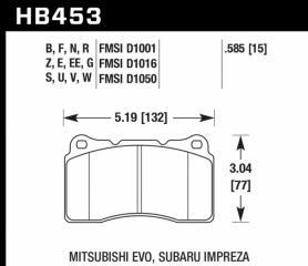 Тормозные колодки передние переднее SUBARU Impreza WRX STI 2000 - 2014