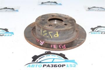 Запчасть тормозной диск задний левый Nissan Teana 2003-2007